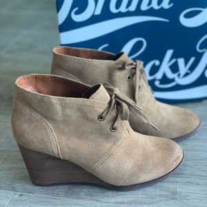 Lucky Brand Honey Oiled Suede Women's Boots 8.5